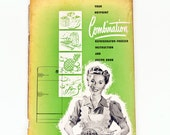 Retro vintage recipe booklet Hot Point fridge refridgerator freezer Recipe and Instruction Book green 50s mid century