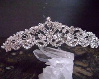 Rhinestone Bridal Tiara, Wedding Tiara,Silver Tiara Crown,  Rhinestone Bridal Headpiece, Bridal Hair Accessories,Brial Hair Jewelry