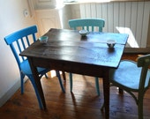 french antique table, furniture, kitchen, table, desk, fruitwood, country style, restored furniture,