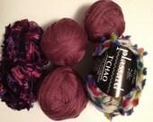 Yarn Lot/Detash - Mixed Purple Yarn Lot