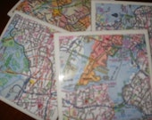 Map Coasters - NYC Map Coasters...The 5 Boroughs...Full Cork Bottoms