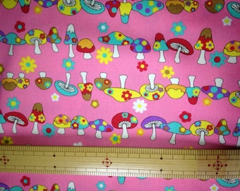 Half yard Cute mushroom pink colour