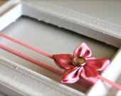 petit silk five petal flower headband newborn-toddler-child-teen-adult