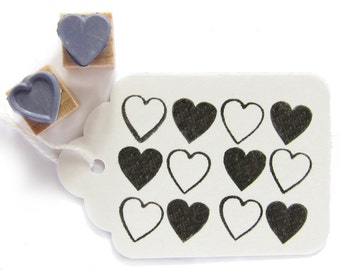 2 rubber stamps - HEARTS