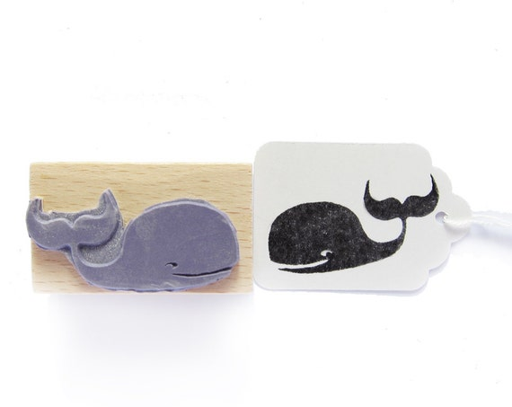rubber stamp - WHALE
