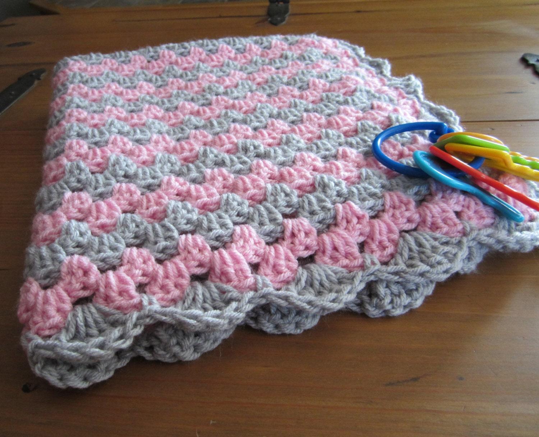 baby girl blanket crochet granny stripe crochet blanket