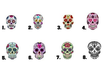 Waterslide Nail Decals Set of 20 - Day of the Dead Sugar Skull