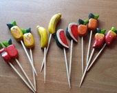 Fruit Pieces for Beads, Jewelry, Crafts, Party Wares, and More