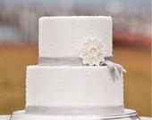 Filigree Sugar Snowflake Wedding Cake Topper & Decoration, Handmade to Order