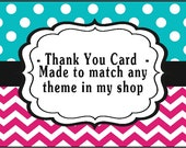 Thank You Card Made to Match DIY Printable Digital File