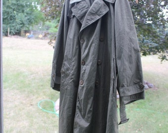 Army Trenchcoat, Army, Overcoat, Trenchcoat, 38R, Long Coat, Olive, Army Green