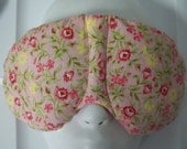 Herbal Hot/Cold Therapy Sleep Mask with adjustable and removable strap Pink Flowers on Pink