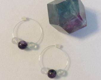 Fluorite Healing Hoops
