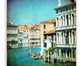 "Venice Photography, teal Italy photos, turquoise canals of Venice, Venice decor, architecture - ""The Grand Lady"" - Fine Art Photograph"