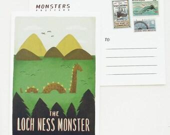 Lochness Monster Postcard 1pc