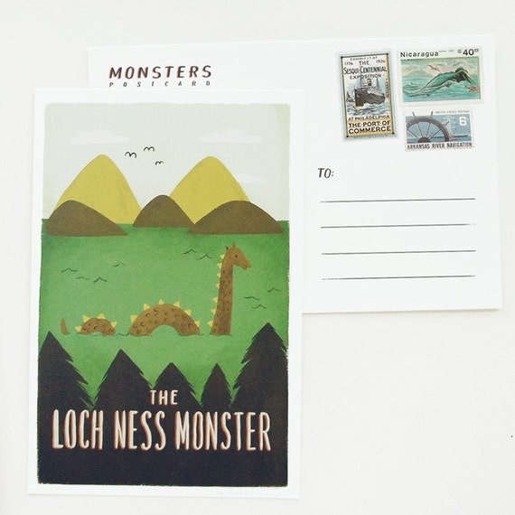 Lochness Monster Postcard 1pc