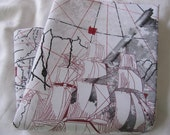 Oldest wold map print Queen bedding pillow cases - standard queen pillowcase 20x30 inch or 20x36 inch king size black red grey