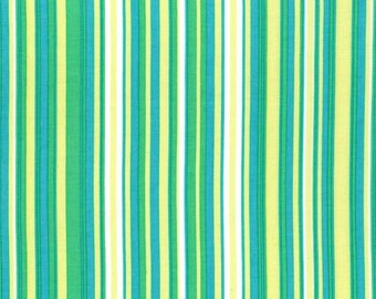 Play Stripe Caribbean Multi Green by Michael Miller