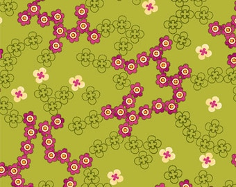 1 Yard of Anthology II Green Daisies by Color Principle for Henry Glass