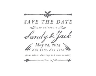 Save The Date To Celebrate Custom Stamp