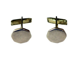 Vintage Sterling Silver Octagon Taxco Cuff Links