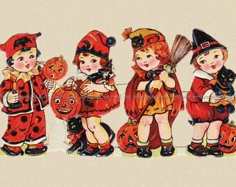 Halloween Witch Children Fridge Magnet from Scrap