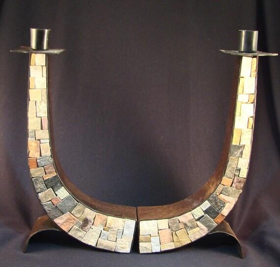 Eilon Israel  city pictures gallery : Eilon Mosaics Hand Made Israel Stone Hammered Copper Shabbat ...