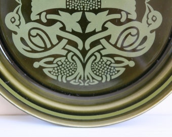 CLOSING DOWN SALE - 50% Off Vintage Tree of Life Sideplate by Arklow Pottery of Ireland
