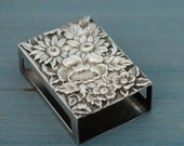 Match Box Cover, Repousse by Kirk, Sterling Silver