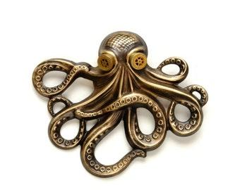 Steampunk Hat Pin Steampunk Octopus Kraken Cthulhu Pin Steampunk Goggles Pirate Gear Steam Punk Steampunk Jewelry By Victorian Curiosities
