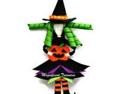 Witch Ribbon Sculpture Hair Clip or Pin