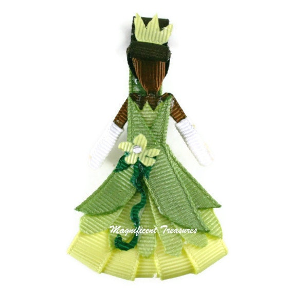 Princess Tiana Hair: Tiana Inspired Ribbon Sculpture Hair Clip
