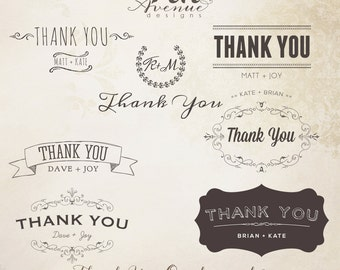 INSTANT DOWNLOAD - Thank You Word Overlays  vol.2