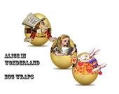 Alice in wonderland holiday  paper egg wraps DIY