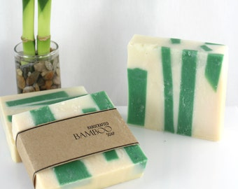 Bamboo Soap, Cold Process, Vegan Friendly Olive Oil Soap