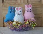 Bunny Rattle - plush toy