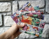 Comic Book Wedding Invitations - Set of 250 Envelopes Only // birthday, recycled comic book envelopes