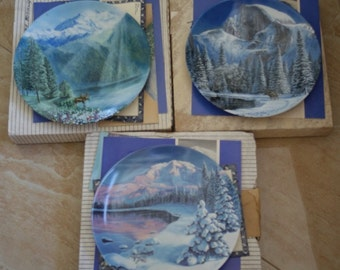 Nature's Legacy Collector's Plate - Set of 3 plates Decorative Plates Gift for Him Father Day Gift Home Decor
