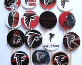 15 Atlanta Falcons Football Party Picks - Cupcake Toppers - Toothpicks - Food Picks - Party Supplies FP400
