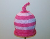 PDF PATTERN: Bumble Bee Hand Knit Striped Hat From The Bee Collection For Babies, Toddlers & Children