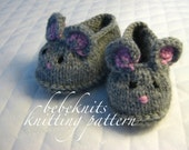 Bebeknits Little Mice Baby Slippers Knitting Pattern