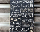 Cabin Rules Sign, Subway Sign, Personalized Family Cabin Rules Sign, Personalized Family Name Sign Cabin Decor