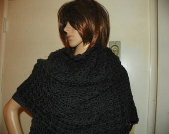 Silky Black Shawl Wrap Stole  This is my Best Seller