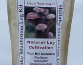 Shiitake Mushroom Growing Log Kit Gorws For Years!!  ON SALE Limited Time