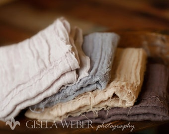 Sale, RTS, 4 Neutral Baby Wraps, Baby Boy Wrap, Neutral Cheesecloth, Neutral Layer Prop, Baby Girl Wrap, Organic Baby Wrap, Photography Prop