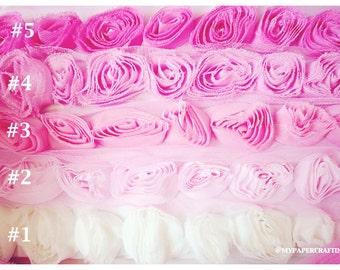 Shabby Chiffon Bloomer rose trim