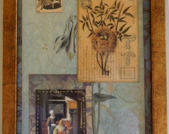 Botanical Collage with Vermeer
