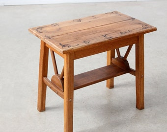 FREE SHIP 1940s Monterey table, California ranch end table, wood side table
