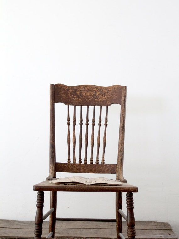 Antique Spindle Back Chair Old Wood Chair