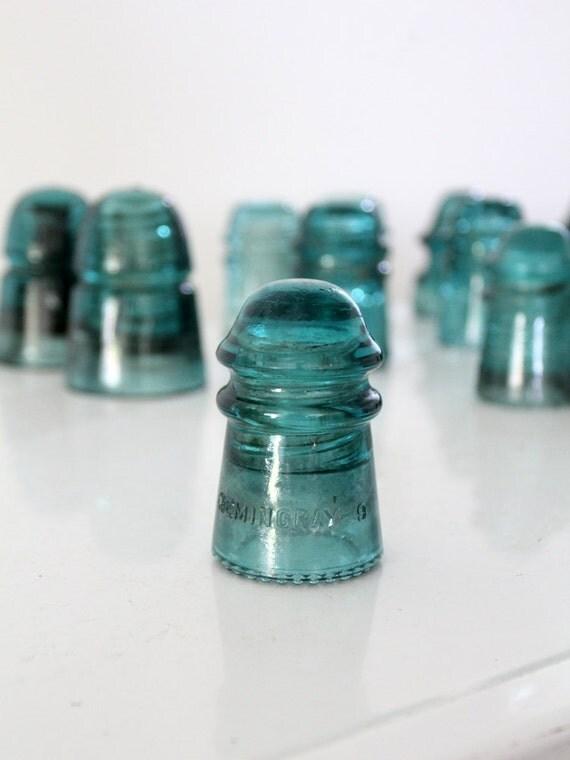 Antique hemingray glass insulator no 9 hemingray by 86home for Glass electric insulator crafts